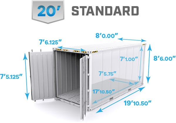 20' reefer dimensions, 20' refrigerated shipping container dimensions, 20' reefer container, 20' refrigerated shipping container specifications, 20' reefer container specs