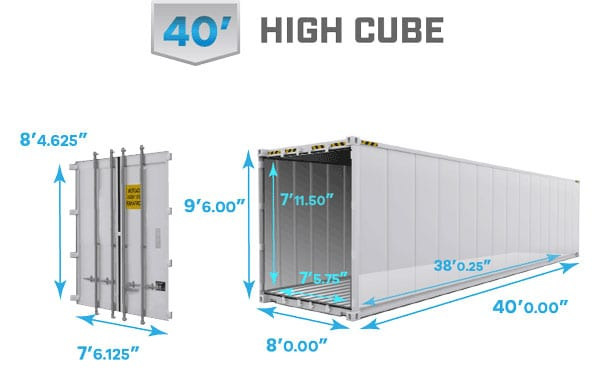 40' high cube reefer dimensions, 40' high cube reefer specs, 40' high cube reefer inside height, 40' reefer dimensions, 40' refrigerated shipping container dimensions, 40' reefer container, 40' refrigerated shipping container specifications, 40' high cube reefer container specs