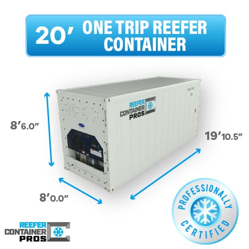 20' reefer buy button, 20' one trip reefer buy button, 20' reefer container for sale, 20' refrigerated shipping container prices, 20' reefer container, 20' refrigerated trailer, 20' refrigerated storage container, buy reefer container, reefer container for sale, reefer container pros, insulated shipping container, cold storage container, cold storage, used insulated shipping container